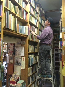 D scours the poetry section, dressed *exactly* like my dad.